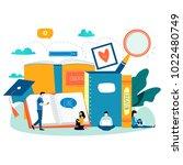 education  online training... | Shutterstock .eps vector #1022480749