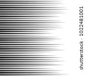 horizontal speed lines for... | Shutterstock . vector #1022481001