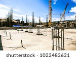 reinforced concrete of building ... | Shutterstock . vector #1022482621