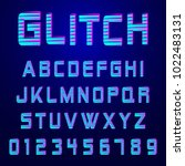 alphabet font template. set of... | Shutterstock .eps vector #1022483131