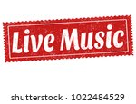 live music sign or stamp on... | Shutterstock .eps vector #1022484529