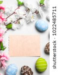 happy easter card  | Shutterstock . vector #1022485711