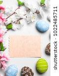 happy easter card  | Shutterstock . vector #1022485711