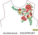 embroidery collar piece | Shutterstock .eps vector #1022490187