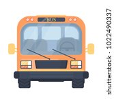 school bus. vehicle for... | Shutterstock .eps vector #1022490337