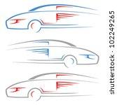 race car   vector symbol | Shutterstock .eps vector #102249265
