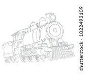 image of a retro locomotive... | Shutterstock .eps vector #1022493109
