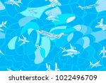 vector seamless pattern with... | Shutterstock .eps vector #1022496709