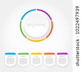 modern infographics with five... | Shutterstock .eps vector #1022497939