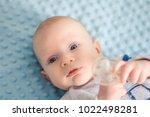 little newborn baby with...   Shutterstock . vector #1022498281