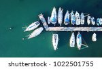 aerial photo of boats docked in ...   Shutterstock . vector #1022501755