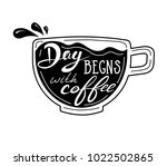 quote coffee typography set.... | Shutterstock .eps vector #1022502865
