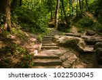 alley  path  stair in the park. ... | Shutterstock . vector #1022503045