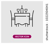 dinner table sign icon in... | Shutterstock .eps vector #1022504041