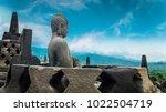 amazing statue of buddha... | Shutterstock . vector #1022504719