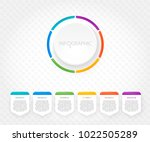 modern infographics with six... | Shutterstock .eps vector #1022505289