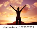 feeling  happy and inspired. | Shutterstock . vector #1022507599