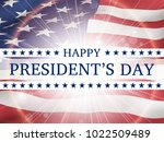 happy president's day   poster... | Shutterstock .eps vector #1022509489