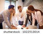 creative business team working...   Shutterstock . vector #1022513014
