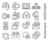 communication vector icons | Shutterstock .eps vector #1022513644