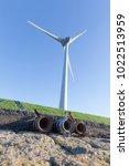 Small photo of Wind turbines producing alternative energy