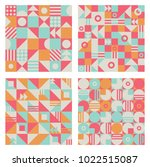 abstract geometric patterns set  | Shutterstock .eps vector #1022515087
