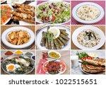 turkish foods collage | Shutterstock . vector #1022515651