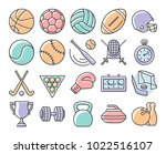 collection of outlined icons ... | Shutterstock . vector #1022516107