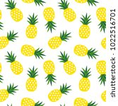 yellow pineapple with triangles ... | Shutterstock .eps vector #1022516701