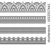 set of seamless borders for... | Shutterstock .eps vector #1022517661