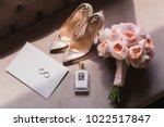 Wedding. Bride's Shoes  Perfume ...