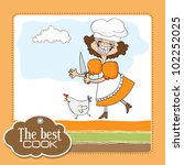 the best cook certificate with... | Shutterstock .eps vector #102252025