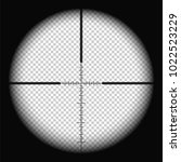 sniper scope crosshairs view.... | Shutterstock .eps vector #1022523229