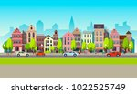 city landscape set with... | Shutterstock .eps vector #1022525749