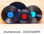 vinyl record in front of a... | Shutterstock . vector #1022526895