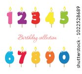 candle colorful numbers.... | Shutterstock .eps vector #1022528689