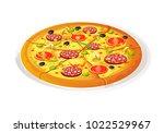 pizza traditional . vector...   Shutterstock .eps vector #1022529967