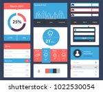 ui kit for website and mobile... | Shutterstock .eps vector #1022530054