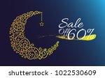sale off 60 percent label  card ... | Shutterstock .eps vector #1022530609