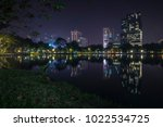 the photo of lumpini park ... | Shutterstock . vector #1022534725