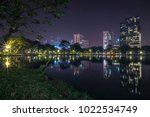 the photo of lumpini park ... | Shutterstock . vector #1022534749