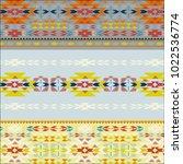 multicolor tribal navajo vector ... | Shutterstock .eps vector #1022536774