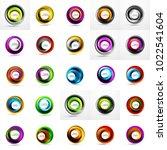 mega set of abstract swirls.... | Shutterstock .eps vector #1022541604