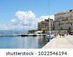 kerkyra  greees   may 17  the... | Shutterstock . vector #1022546194