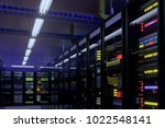 working data center interior.... | Shutterstock . vector #1022548141