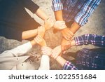 business cooperation concept ... | Shutterstock . vector #1022551684