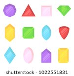 multi colored gems set. jewelry ... | Shutterstock .eps vector #1022551831