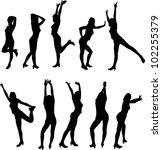 women silhouettes | Shutterstock .eps vector #102255379