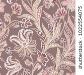 floral seamless pattern with... | Shutterstock .eps vector #1022554075