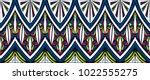 geometric folklore ornament.... | Shutterstock .eps vector #1022555275